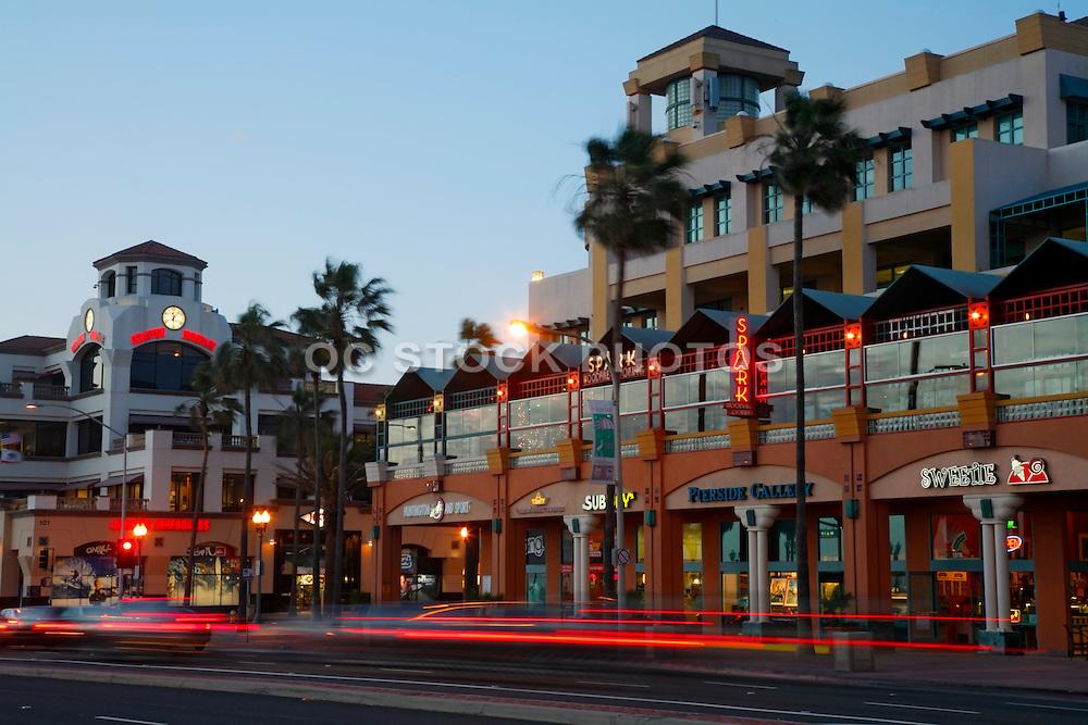 Stores Along PCH In Huntington Beach Orange County, California