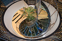 Royal Caribbean International's  Independence of the Seas, the world's largest cruise ship...Spa staircase