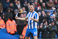 Brighton & Hove Albion centre forward Tomer Hemed celebrates after scoring a goal to make it 1-0 during the EFL Sky Bet Championship match between Brighton and Hove Albion and Burton Albion at the American Express Community Stadium, Brighton and Hove, England on 11 February 2017. Photo by Bennett Dean.