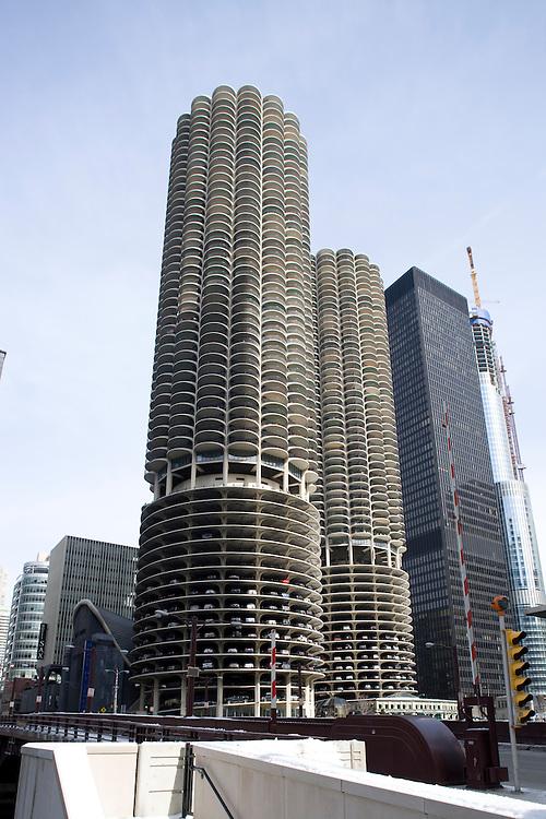 Marina City, Chicago Marina City, Chicago, Illinois, condominiums by Bertrand Goldberg, Architect