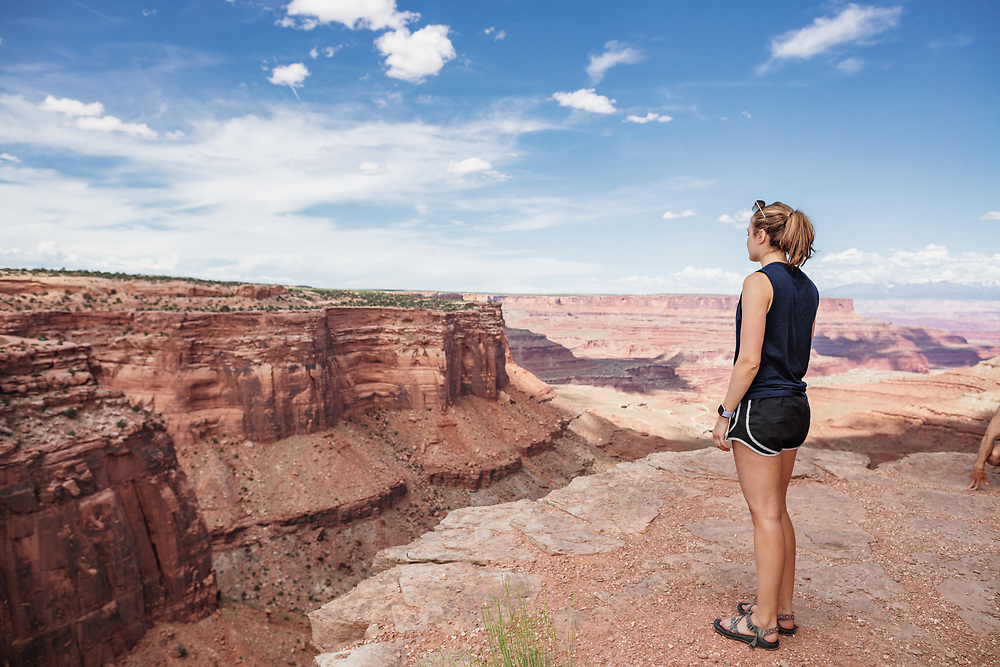 Shafer Canyon Overlook in Canyonlands National Park near Moab Utah
