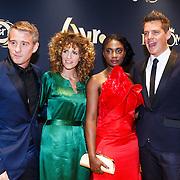 NLD/Amsterdam/20131018 - Inloop Televiziergala 2013, Art Rooijakkers, Caroline Borgers, Zarayda Groenhart en Kees Tol