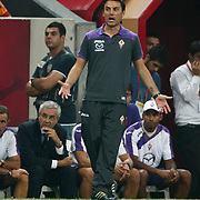 ACF Fiorentina's head coach Vincenzo Montella during their friendly soccer match Galatasaray between ACF Fiorentina at the TT Arena in istanbul Turkey on Wednesday 08 August 2012. Photo by TURKPIX