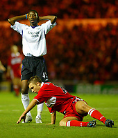 Fotball<br /> Premier League England 2004/2005<br /> Foto: BPI/Digitalsport<br /> NORWAY ONLY<br /> <br /> Middlesbrough v Manchester City<br /> Barcalys Premiership. 06/12/2004.<br /> <br /> A dejected Bradely Wright-Phillips after blasting over minutes from time.