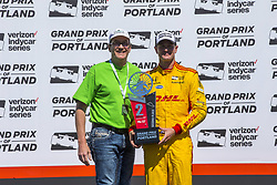 September 2, 2018 - Portland, Oregon, United Stated - RYAN HUNTER-REAY (28) of the United States finishes second during Portland International Raceway at Portland International Raceway in Portland, Oregon. (Credit Image: © Justin R. Noe Asp Inc/ASP via ZUMA Wire)