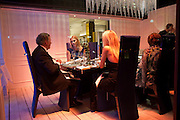 SIR TERRY WOGAN; JODIE KIDD; KAREN BRADY, -RAYMOND BLANC HOSTS ÔATELIER MARTELLÕ CELEBRITY DINING EXPERIENCE IN HARRODS WINDOW , Brompton Rd. . London. 18 October 2011. <br /> <br />  , -DO NOT ARCHIVE-© Copyright Photograph by Dafydd Jones. 248 Clapham Rd. London SW9 0PZ. Tel 0207 820 0771. www.dafjones.com.<br /> SIR TERRY WOGAN; JODIE KIDD; KAREN BRADY, -RAYMOND BLANC HOSTS 'ATELIER MARTELL' CELEBRITY DINING EXPERIENCE IN HARRODS WINDOW , Brompton Rd. . London. 18 October 2011. <br /> <br />  , -DO NOT ARCHIVE-© Copyright Photograph by Dafydd Jones. 248 Clapham Rd. London SW9 0PZ. Tel 0207 820 0771. www.dafjones.com.