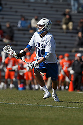 2013 February 17: Morgan Kirby #29 of the Duke Blue Devils during a 3-15 win over the Mercer Bears at Koskinen Stadium in Durham, NC.