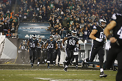 Philadelphia Eagles guard Josh Andrews #68 and the team enter the field before the NFL game between the Philadelphia Eagles and the New York Giants at Lincoln Financial Field in Philadelphia on Monday, September 19th 2015. The Eagles won 27-7. (Brian Garfinkel/Philadelphia Eagles)