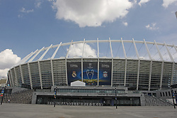 May 25, 2018 - Kiev, Ukraine - A general view of the NSC Olimpiyskiy stadium in Kyiv, Ukraine, 25 May, 2018. Real Madrid will face Liverpool FC in the UEFA Champions League final at the NSC Olimpiyskiy stadium on 26 May 2018. (Credit Image: © Str/NurPhoto via ZUMA Press)