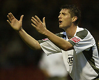 Photo: Aidan Ellis.<br /> York City v Bristol City. The FA Cup. 11/11/2006.<br /> Bristol's Phil Jevons moans to ther lines man