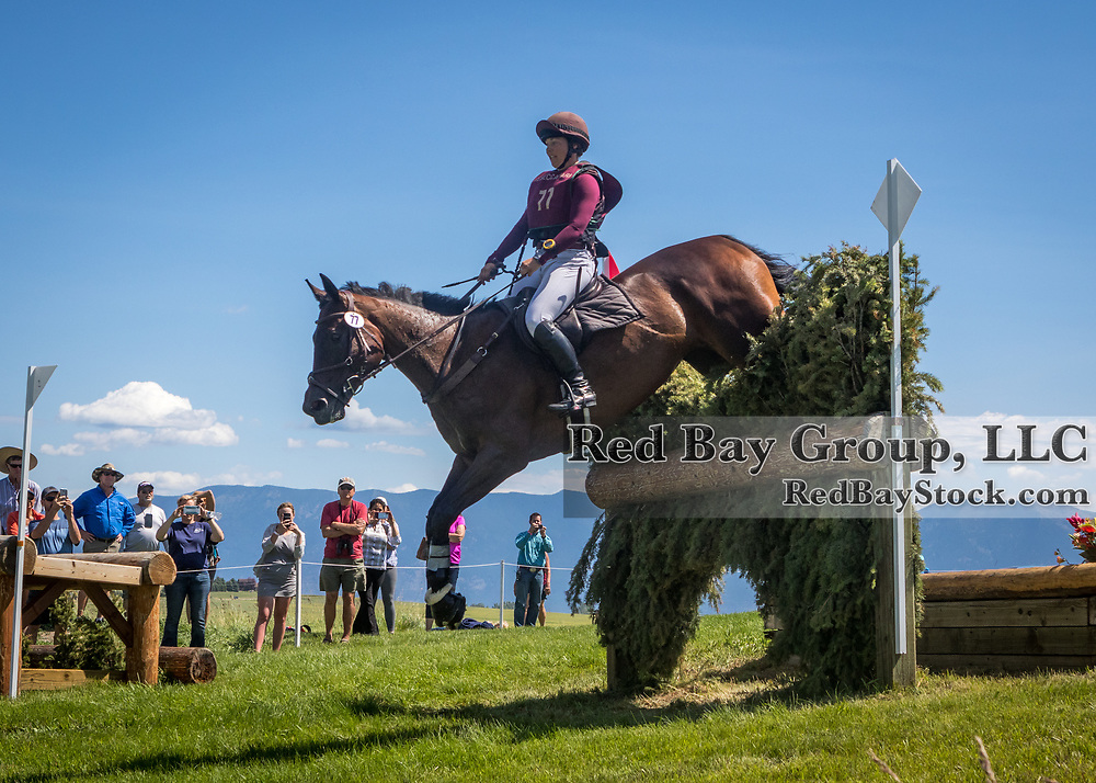 Sabrina Glaser (CAN) and Rembrandt at the The Event at Rebecca Farm in Kalispell, Montana.