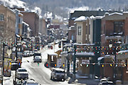 SHOT 3/2/17 11:42:26 AM - Park City, Utah lies east of Salt Lake City in the western state of Utah. Framed by the craggy Wasatch Range, it's bordered by the Deer Valley Resort and the huge Park City Mountain Resort, both known for their ski slopes. Utah Olympic Park, to the north, hosted the 2002 Winter Olympics and is now predominantly a training facility. In town, Main Street is lined with buildings built primarily during a 19th-century silver mining boom that have become numerous restaurants, bars and shops. (Photo by Marc Piscotty / © 2017)