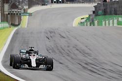 November 9, 2018 - Sao Paulo, Sao Paulo, Brazil - Nov, 2018 - LEWIS HAMILTON - Mercedes was second. Free practice of Formula One Grand Prix Brazil at the José Carlos Pace racetrack (Interlagos) in the city of Sao Paulo. Sao Paulo, Brazil, November 9, 2018. (Credit Image: © Marcelo Chello/ZUMA Wire)