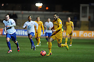 Robbie Willmott of Newport county in action. FA cup with Budweiser, 1st round replay, Newport county v Braintree Town at Rodney Parade in Newport, South Wales on Tuesday 19th November 2013. pic by Andrew Orchard, Andrew Orchard sports photography,