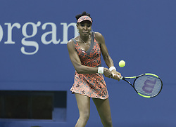 September 5, 2017 - New York, New York, United States - Venus Williams of USA returns ball during match against Petra Kvitova of Czech Republic at US Open Championships at Billie Jean King National Tennis Center (Credit Image: © Lev Radin/Pacific Press via ZUMA Wire)