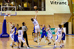 Tina Trebec of Slovenia during  Eurobasket Women - Div. B 2013 Qualifications Game between National team of Slovenia and Sweden in 4th Round of Group A, on June 5, 2011 in  Arena Vitranc, Kranjska Gora, Slovenia. (Photo By Vid Ponikvar / Sportida.com)
