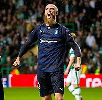 19/08/15 UEFA CHAMPIONS LEAGUE PLAY-OFF 1ST LEG<br /> CELTIC V MALMO<br /> CELTIC PARK - GLASGOW<br /> Jo Inge Berget celebrates his second for Malmo.