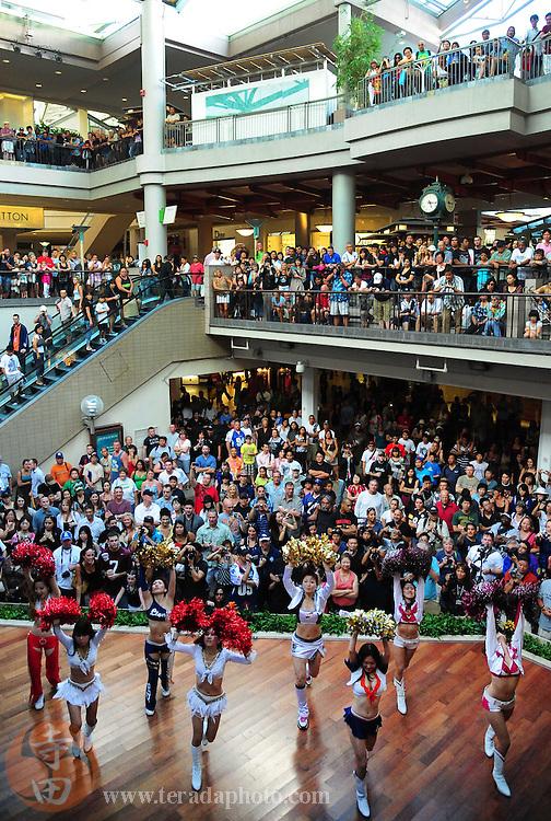 January 28, 2011; Honolulu, HI, USA; Japanese cheerleaders perform during a 2011 Pro Bowl cheerleader appearance at the Ala Moana Center. Mandatory Credit: Kyle Terada-Terada Photo