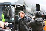 Southampton manager Ralph Hasenhuttl arrives at the stadium during the The FA Cup 3rd round match between Derby County and Southampton at the Pride Park, Derby, England on 5 January 2019.
