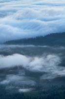 Fog over Olympic Mountains Washington