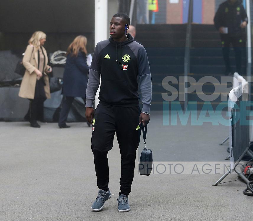 Chelsea's Kurt Zouma arrives for the match during the Premier League match at Selhurst Park Stadium, London. Picture date December 17th, 2016 Pic David Klein/Sportimage