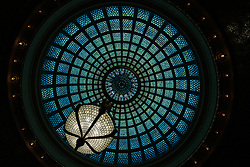 The Tiffany glass dome inside the Cultural centre, Chicago