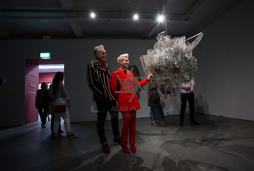 """18.05.2018.          <br /> More than 500 people attended the flagship event of the inaugural Unwrap LSAD Fashion Festival in Limerick.<br /> <br /> Pictured at the event were, Padraic Cullen and Anne Melinn, LSAD.<br /> <br /> The Limerick School of Art & Design, LIT, Fashion Design Graduate Exhibition and launch of the """"The Fashion Film"""" at Limerick City Gallery of Art, in partnership with EVA International, attracted hundreds of people from the world of fashion. <br /> <br /> A total of 27 fashion graduates presented their designs alongside the specially commissioned film by fashion stylist and creative director Kieran Kilgallon and videographer Albert Hooi. Picture: Alan Place"""