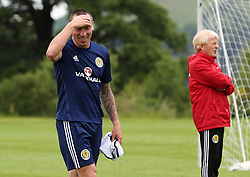 Scotland's Scott Brown (left) and manager Gordon Strachan during a training session at Mar Hall, Glasgow.