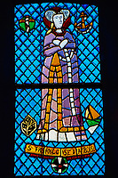France, Finistère (29), Presqu'île de Crozon, Roscanvel, vitraux de Auguste Labouret dans l'eglise // France, Brittany, Finistere, Crozon, church of Roscanvel, church window from August Labouret