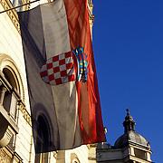 Croatian Flag in Zagreb