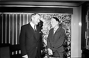 19/09/1967<br /> 09/19/1967<br /> 19 September 1967<br /> Dr Lilian Gilbreth, American psychologist and industrial engineer, visits Jacobs offices, Dublin. Picture shows (l-r): Mr Desmond H. Bradley, Research and Development Manager and Jacobs; Dr Lilian Gilbreth.