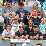 PARIS, FRANCE June 09.  Kristina Mladenovic, girlfriend of  Dominic Thiem of Austria in the stands with his team during his loss to Rafael Nadal of Spain during the Men's Singles Final on Court Philippe-Chatrier at the 2019 French Open Tennis Tournament at Roland Garros on June 9th 2019 in Paris, France. (Photo by Tim Clayton/Corbis via Getty Images)