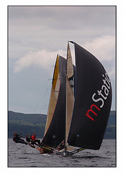 The 2004 Skiff Nationals at Largs held by the SSI.<br /> <br /> SP Systems helemd by Richard Hall.<br /> <br /> Marc Turner / PFM Pictures