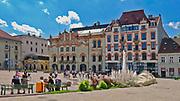 Plac Szczepański w Krakowie, Polska<br /> Szczepański Square in Cracow, Poland