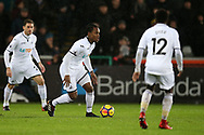 Renato Sanches of Swansea city © in action. Premier league match, Swansea city v Tottenham Hotspur at the Liberty Stadium in Swansea, South Wales on Tuesday 2nd January 2018. <br /> pic by  Andrew Orchard, Andrew Orchard sports photography.