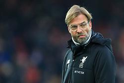 10th December 2017 - Premier League - Liverpool v Everton - Liverpool manager Jurgen Klopp looks dejected - Photo: Simon Stacpoole / Offside.