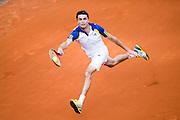 Paris, France. Roland Garros. June 2nd 2013.<br /> French player Gilles SIMON against Roger FEDERER