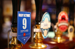 A view of the 'Vardy Returns' beer at the Strawberry Gardens Pub before the FA Cup, third round match at Highbury Stadium, Fleetwood