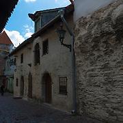 Medieval walls in Tallinn Katarina Kirik district