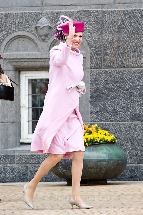 16.04.2015. Copenhagen, Denmark.<br /> Princess Benedikte arrive to the Town Hall during festivities for the 75th birthday of Queen Margrethe II of Denmark.<br /> Photo:© Ricardo Ramirez