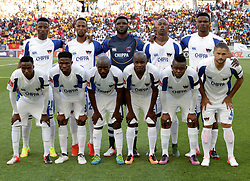 Chippa United during the 2016 Premier Soccer League match between Chippa United and Kaizer Chiefs held at the Nelson Mandela Bay Stadium in Port Elizabeth, South Africa on the 3rd December 2016.<br /> <br /> Photo by:   Richard Huggard / Real Time Images