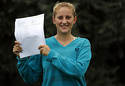 August 17, 2017 - London, LONDON, ENGLAND - LONDON, UK. .ENGLAND ROWING GOLD MEDALIST RECEIVES A LEVEL RESULTS. Lady Eleanor Holles student Greta Harison, receives 2 A*'s and 1 A in her A level results today and is going onto Kings London to study Classics. Greta was selected to represent England at Home Counties in 2016, she coxed the junior women's eight over the 1500m course in Cardiff, where the boat came away with a gold medal. (Credit Image: © Lnp/London News Pictures via ZUMA Wire)