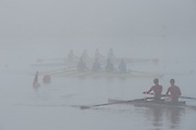Hamburg. GERMANY.   Misty Foggy,  atmospheric, conditions, Friday, Morning training at the 2014 FISA Junior World rowing. Championships.  07:54:27  Friday  08/08/2014  [Mandatory Credit; Peter Spurrier/Intersport-images] © Peter SPURRIER, Atmospheric, Rowing
