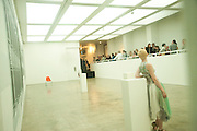 DANCER, Pablo Bronstein, Sketches for Regency Living. Discussion and lunch. ICA. The Mall. London. 7 June 2011. <br /> <br />  , -DO NOT ARCHIVE-© Copyright Photograph by Dafydd Jones. 248 Clapham Rd. London SW9 0PZ. Tel 0207 820 0771. www.dafjones.com.