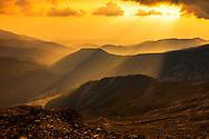 Rainy sunset in Pirin Mountains