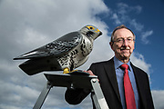 Editorial business photograph of the MD of Robop with one of his R:Falcon in East Lothian