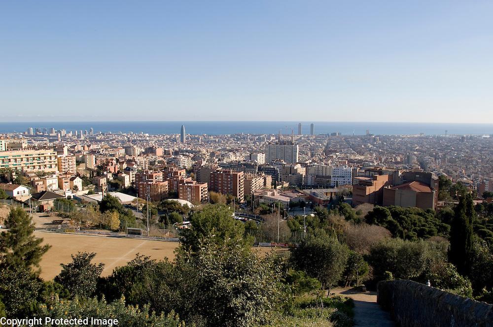 Park Güell designed by Antoni Gaudi in Barcelona