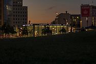 S-Bahnhof Potsdamer Platz at night, Berlin 2018.
