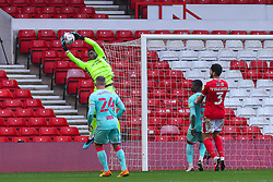 Brice Samba of Nottingham Forest gathers a high ball - Mandatory by-line: Nick Browning/JMP - 29/11/2020 - FOOTBALL - The City Ground - Nottingham, England - Nottingham Forest v Swansea City - Sky Bet Championship