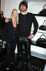 Musician ALEX JAMES and his sister DEBORAH JAMES at a party hosted by Versace during London Fashion Week 2005 at their store in Slaone Street, London on 19th September 2005.<br /><br />NON EXCLUSIVE - WORLD RIGHTS